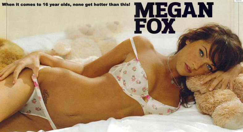 Megan Fox at 16 - posing for Jail Bait Magazine