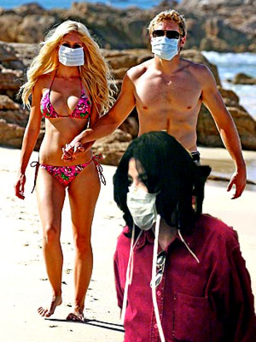 Heidi Montag and Spencer Pratt in Mexico, 'freaking out' about swine flu and kidnap plot!